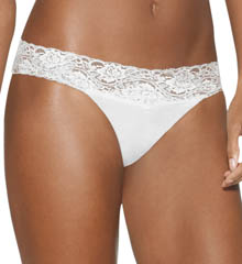 Barely There Invisible Look Lace Waist Bikini Panty