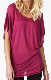 Seamed Dolman Top