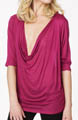 Bella Luxx Cowl Neck Tissue Jersey Top BL1033