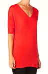 Bella Luxx Elbow Sleeve V-Neck Tee BL1067