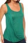 Bella Luxx Tissue Jersey Side Drape Tank BL1073