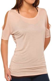 Tissue Jersey Shoulder Cut-Out Top