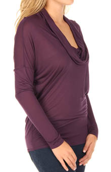 Long Sleeve Cowl Neck Top