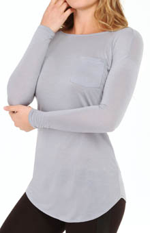 Bella Luxx Tissue Jersey Boat Neck Pocket BL3124