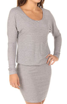 Long Sleeve Pocket Blousy Dress