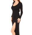 Bella Luxx Long Sleeve Slit Maxi Dress BL8122