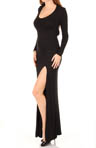 Long Sleeve Slit Maxi Dress