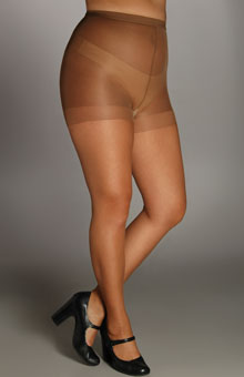 Ultra Sheer Plus Size Control Top Pantyhose