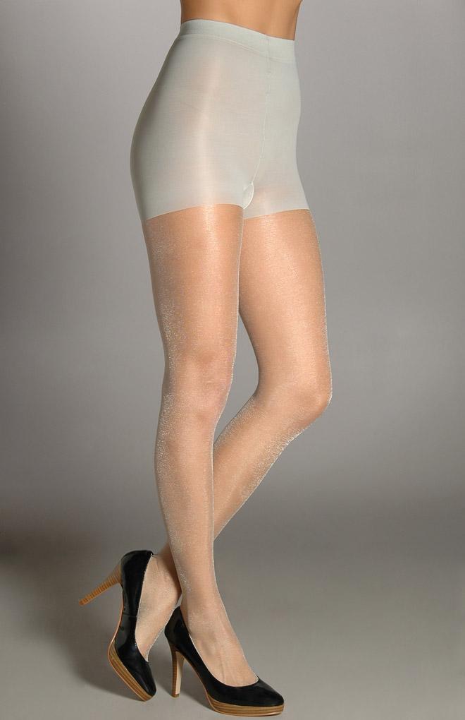 Shimmering sheer pantyhose