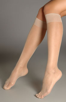Knee Highs Sheer Toe Hosiery