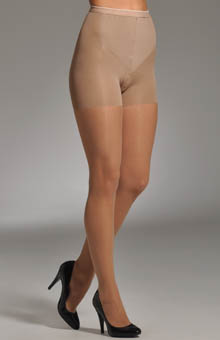 Flat Tummy Silky Sheer Shaping Pantyhose