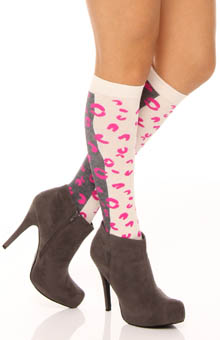Kissy Cat Knee Sock