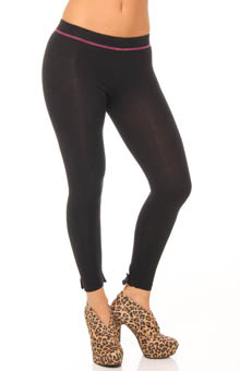 Betsey Johnson Hosiery Bowtie Cut & Sew Legging