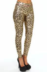 Betsey Johnson Hosiery Liquid Leopard Metallic Legging 60266