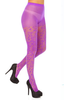 Betsey Johnson Hosiery Leopard Love Sheer Tight 60612
