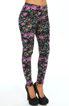 Betsey Johnson Hosiery Game Of Thorns Cut and Sew Legging 60614