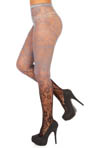Betsey Johnson Hosiery Revolutionary Rose Net Tights 60622