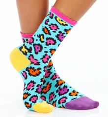 Betsey Johnson Hosiery Cat Nap Crew Socks