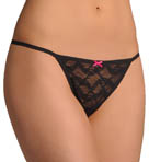 Betsey Johnson Intimates Stretch Lace Side String Adjustable Thong 720210