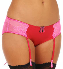 Betsey Johnson Intimates Let M Shine Micro & Lace Bikini Panty with Garters 720656