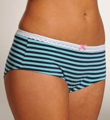 Betsey Johnson Intimates : Betsey Johnson Intimates 721316 Going On Stripe Low Rise Lace Boyshort Panty