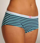 Betsey Johnson Intimates Going On Stripe Low Rise Lace Boyshort Panty 721316