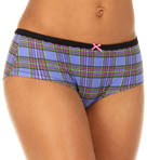 Plaid Stretch Cotton Lo Rise Boyshort Panty