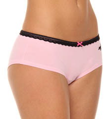 Betsey Johnson Intimates : Betsey Johnson Intimates 721402 Stretch Cotton Lo Rise Boyshort Panty