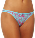 Betsey Johnson Intimates Stretch Mesh Side String Bikini Panty 721603