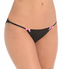 Betsey Johnson Intimates Slinky Knit String Bikini Panty 721834