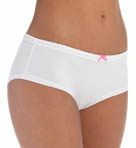 Betsey Johnson Intimates Cotton Stretch with Lace Lo Rise Boyshort Panty 721934