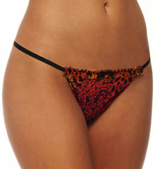 Betsey Johnson Intimates : Betsey Johnson Intimates 722111 Stretch Mesh Ruffle Top Adjustable Thong