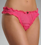 Betsey Johnson Intimates Tricot Shirred Thong 722231