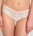 Betsey Johnson Intimates Eyelet Lace Wide Side Thong 722325