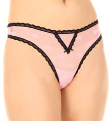 Betsey Johnson Intimates : Betsey Johnson Intimates 722350 Heartbeat Lace Thong