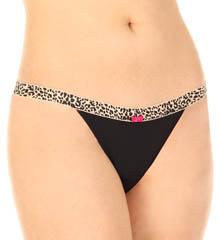 Betsey Johnson Intimates : Betsey Johnson Intimates 722355 Microfiber Everyday Thong