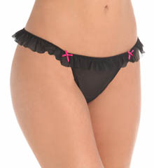 Betsey Johnson Intimates : Betsey Johnson Intimates 722359 Stretch Mesh Tiny Tutu Thong