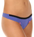 Betsey Johnson Intimates Stretch Cotton Lo Rise Thong 722360