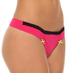 Betsey Johnson Intimates Stretch Cotton Lo Rise Thong 722402