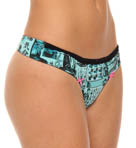 Betsey Johnson Intimates Stretch Cotton Lo Rise Thong 722410