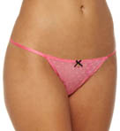 Betsey Johnson Intimates Heart Mesh Side String Thong 722500