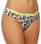 Betsey Johnson Intimates Stretch Cotton Lo Rise Thong 722509