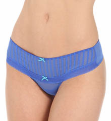 Betsey Johnson Intimates Stocking Stripe Wide Side Thong 722601