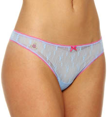 Betsey Johnson Intimates : Betsey Johnson Intimates 722706 Chantilly Floral Wideside Thong