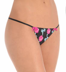 Betsey Johnson Intimates Slinky Knit String Thong 722708
