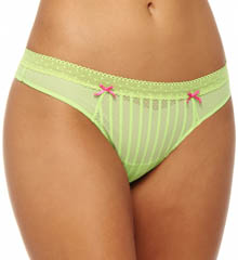 Betsey Johnson Intimates : Betsey Johnson Intimates 722803 Stocking Stripe Lo Rise Thong