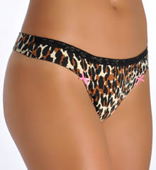 Cotton Stretch with Lace Lo Rise Thong