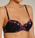 Betsey Johnson Intimates Stretch Mesh and Lace Demi Bra 723353