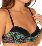 Betsey Johnson Intimates New and Zen Mesh and Lace Lightly Lined Demi Bra 723403NZ