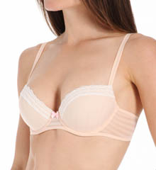 Betsey Johnson Intimates Stripe Hype Balconette Bra 723756